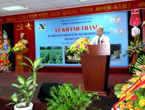 Le khanh thanh Day chuyen dong bo so che tach cong nguyen lieu thuoc la cong suat 24000 tan-nam