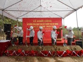 Chuong trinh le khoi cong XD CT Xu ly nuoc thai KCN Song Khe - TPBac Giang - Bac Giang