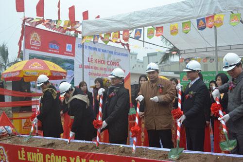 Khoi cong xay dung Nha may Che bien thuc pham Vissan Ha Noi