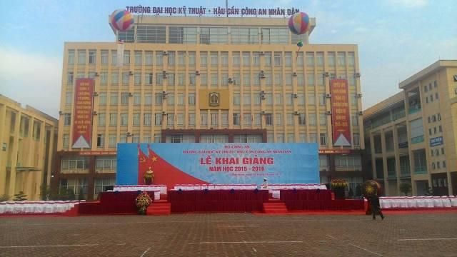 Le khai giang nam hoc 2015 - 2016 truong Dai hoc ky thuat - Hau can Cong an Nhan dan