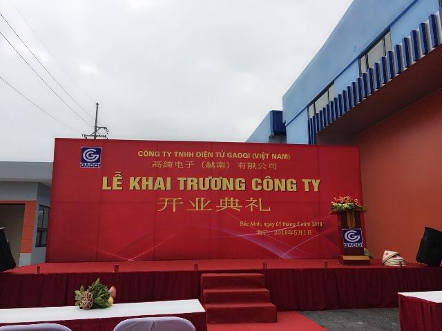 Le khai truong Cong ty TNHH Dien tu GAOQI Viet Nam