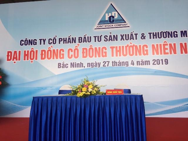 Dai hoi dong co dong thuong nien nam 2019 Cong ty HCD