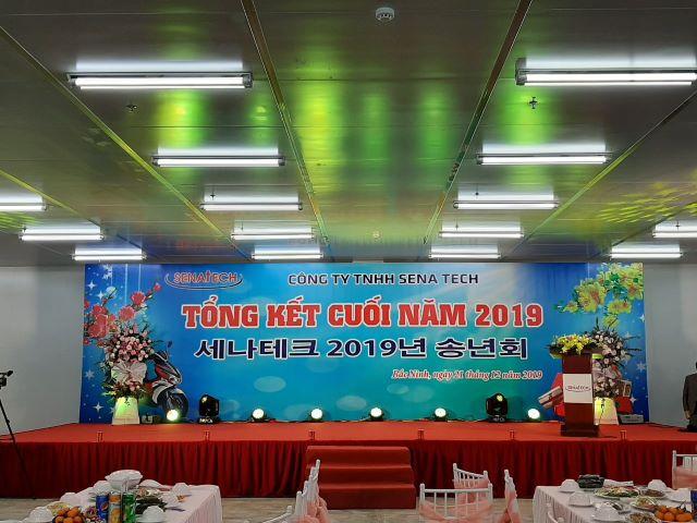 Le tong ket cuoi nam 2019 Cong ty TNHH Sena Tech