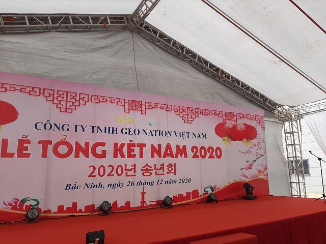 Le tong ket cuoi nam 2020 Cong ty GEO NATION Viet Nam tai KCN Yen Phong mo rong Bac Ninh